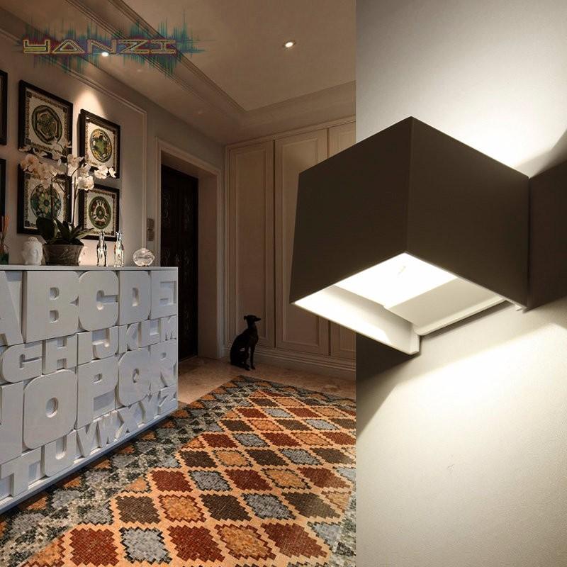 Купить 7 Вт LED Водонепроницаемый наружный Свет Коридор Отель, Открытый Рабочий Свет Современный Минималистский Гостиной Спальня бра Прикроватные Бра