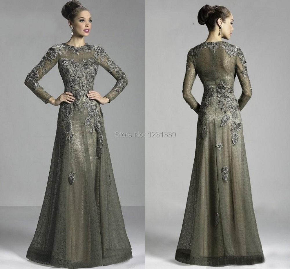 Glamorous vestidos long sleeve lace evening dresses 2015 for Cocktail dress with sleeves for wedding