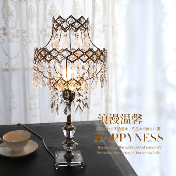 Free Shipping Crystal table lamp table lamp decoration table lamp fashion bed-lighting fashion table bedside lamp crystal Abajur(China (Mainland))
