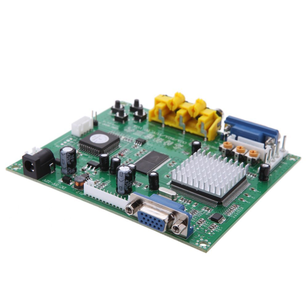 YOC-GBS8200 1 Channel Relay Module Board CGA/EGA/YUV/RGB To VGA Arcade Game Video Converter for CRT/PDP Monitor LCD Monitor