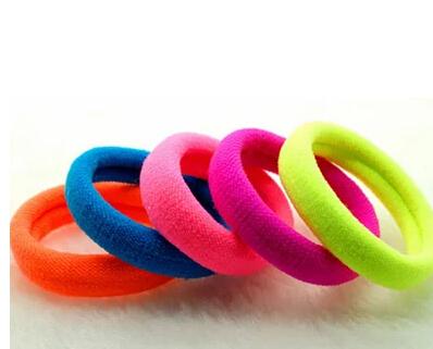5 pieces Child hair accessory sweet elastic headband sweet ultra elastic hair rope tousheng hair accessory(China (Mainland))