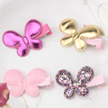 New Cute Style Baby Hair Accessories Leather Shiny Star Love Heart Butterfly Hairpins kids Barrette Lovely