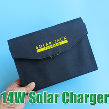 Hot Sale 14W Dual USB Output Waterproof Outdoor Foldable Folding Solar Panel Powerbank Battery Charger