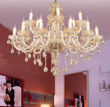 Roman style white candle holder chandeliers led wedding crystal chandelier luxury crystal lamps bedroom hotel hanging light(China (Mainland))