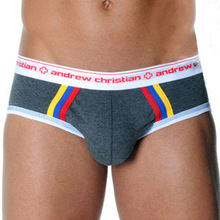 2pcs Men Underwear Brief Sexy Mens Underwear Briefs Cotton Underpants Gay Penis Pouch Wonderjock High Quality Underwear(China (Mainland))
