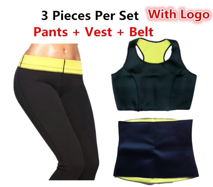 HOT 2015 Neoprene slimming pants + Vest + Belt Hot shapers bodysuits Sauna weight loss neopren tv abdominal waist cinchers(China (Mainland))