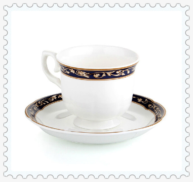 Hot Sale Free Shipping White Ceramic Coffee Cup Set Top Bone China And Saucer