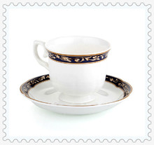 2014 Hot Sale 750 Free Shipping White Ceramic Coffee Cup Set  Top Bone China And Saucer Wholesale