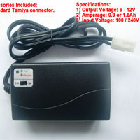 RN3020MP 12V Smart Battery Charger For 7.2V-12V 6~10Cells(0.9A or 1.8A) NiMh/NiCd Battery Pack CUL CE ROHS