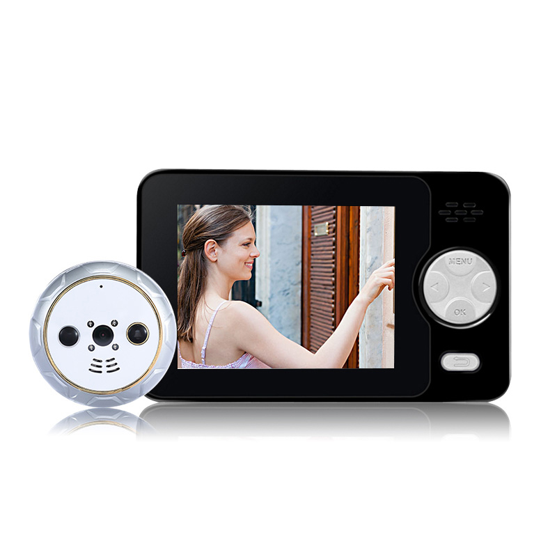 2017 New Special Pluggable 3.2 inch Wireless Door Peephole Camera 3500mAh PIR Motion Detection Auto Recording