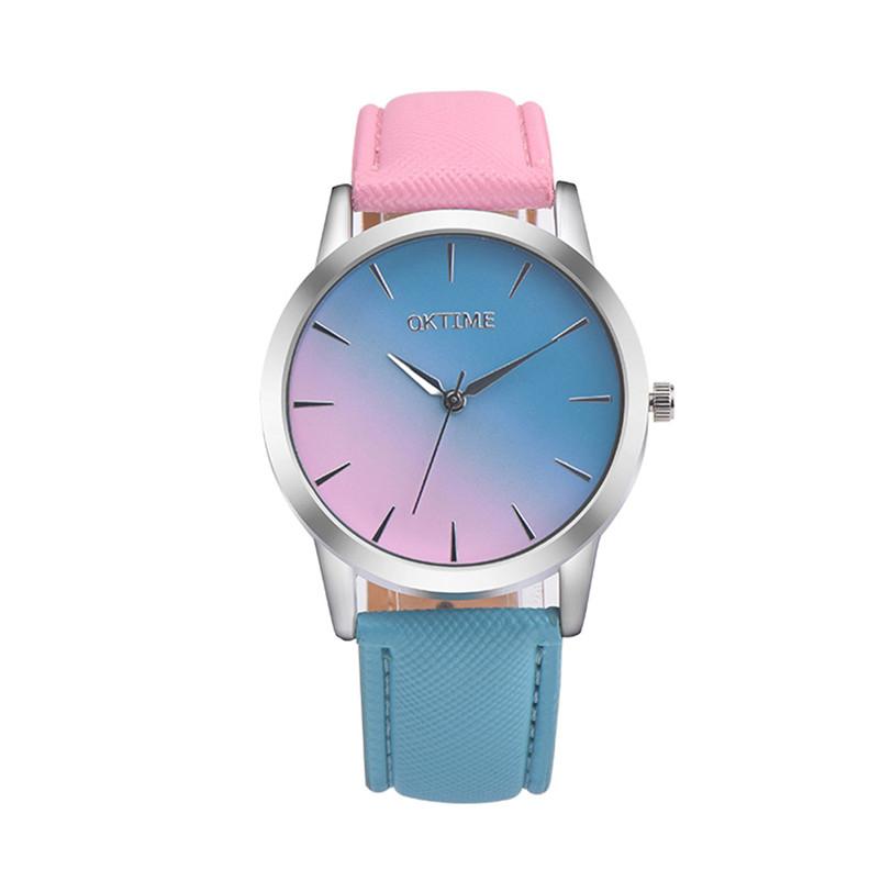 Fashion Casual Women's Watches Rainbow Design High Quality Hot Marketing relogi Retro Quartz Wrist Watch Levert Dropship 3*(China (Mainland))