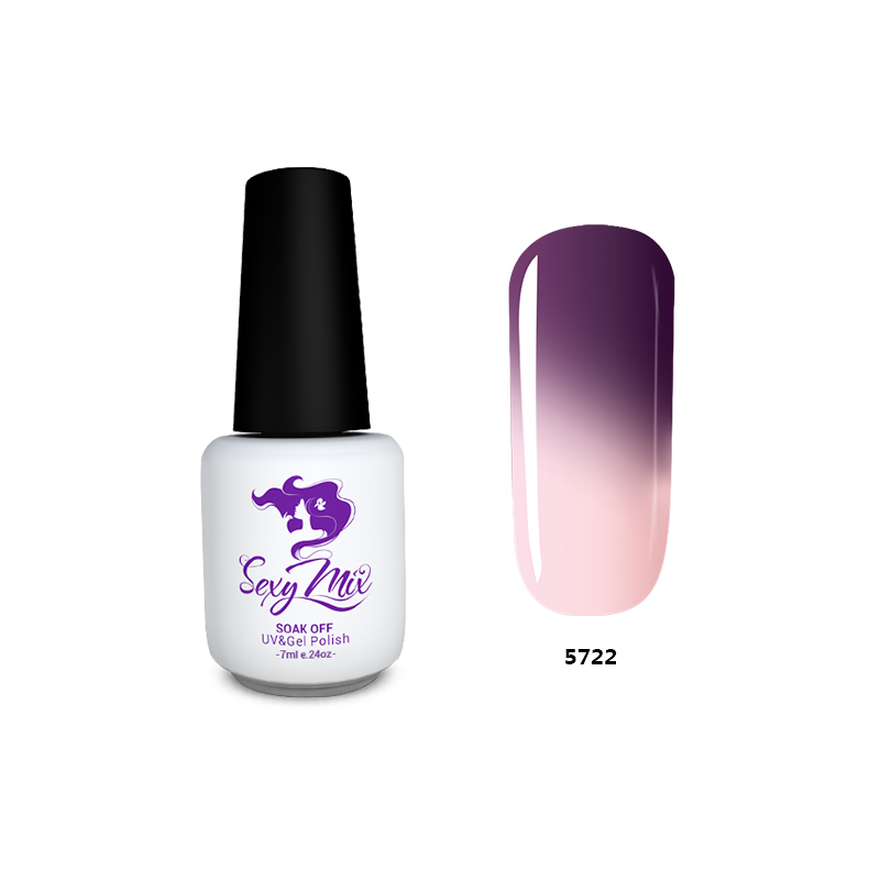 Sexy Mix 7ML Temperature Change Chameleon Color Changing UV Nail Gel Polish Long Lasting UV Gel
