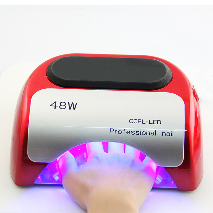 LKE Nail polish gel tools Professional CCFL 48W LED UV Lamp Light 110-220V Nail Dryer with Automatic Induction 10s 20s 30s timer(China (Mainland))