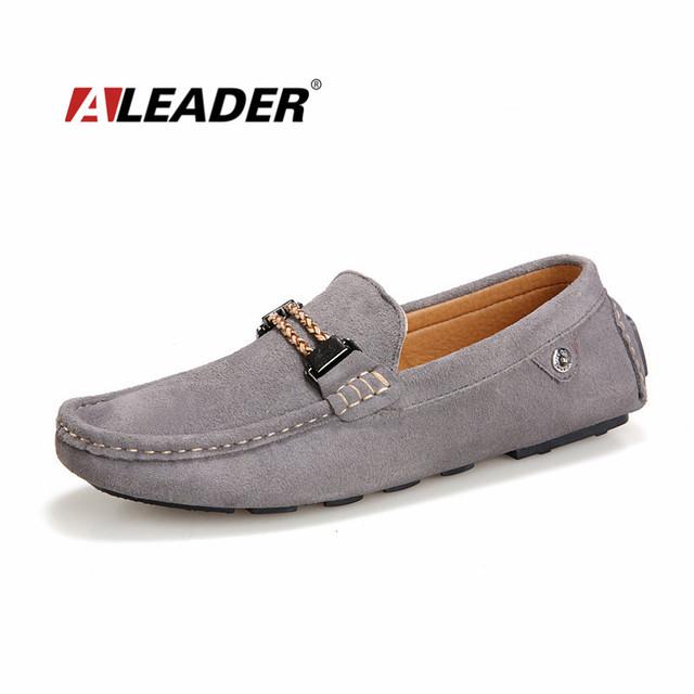 Свободного покроя мужские мокасины обувь лето натуральная кожа вождения обувь квартиры ...