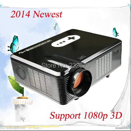 Material Comforts !!3000 Lumens Full HD Led hdtv Projector Stereo Daul Channel Speaker 2.0usb High Speed Input Support 1080p 3D