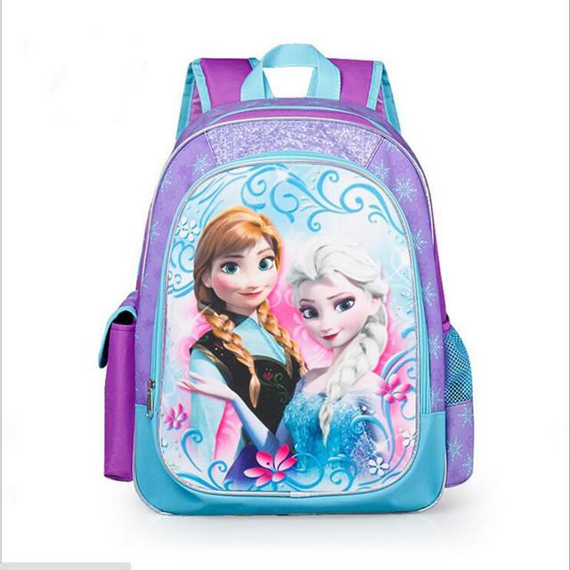 Новинка детей школьные сумки для девочек дети рюкзак мультики прекрасная принцесса анна эльза мешок Schoolbag mochilas infantiles