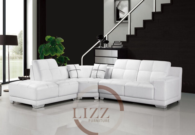 Lizz Leather L shape Sectional Sofa.Upgrade your living room with this beautiful,modern style faux leather sectional sofa set(China (Mainland))
