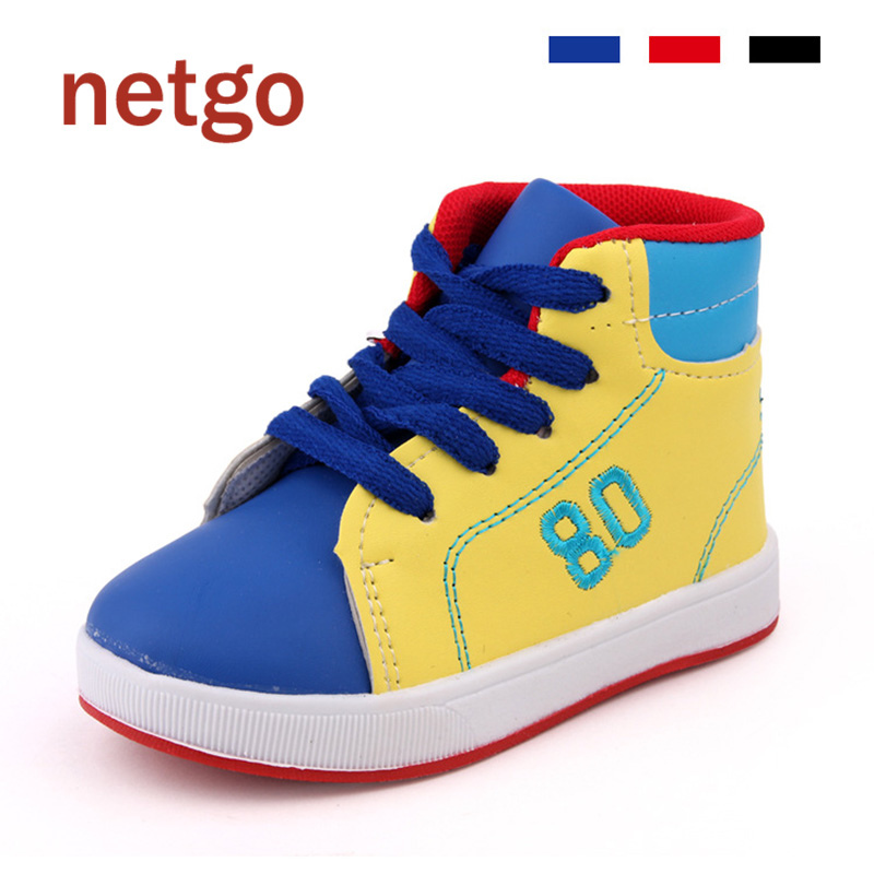 2016 New Children Casual Shoes For Kids Baby Boys Breathable Shoes Girls Flat High Sneakers Casual School Student Sports Shoes(China (Mainland))