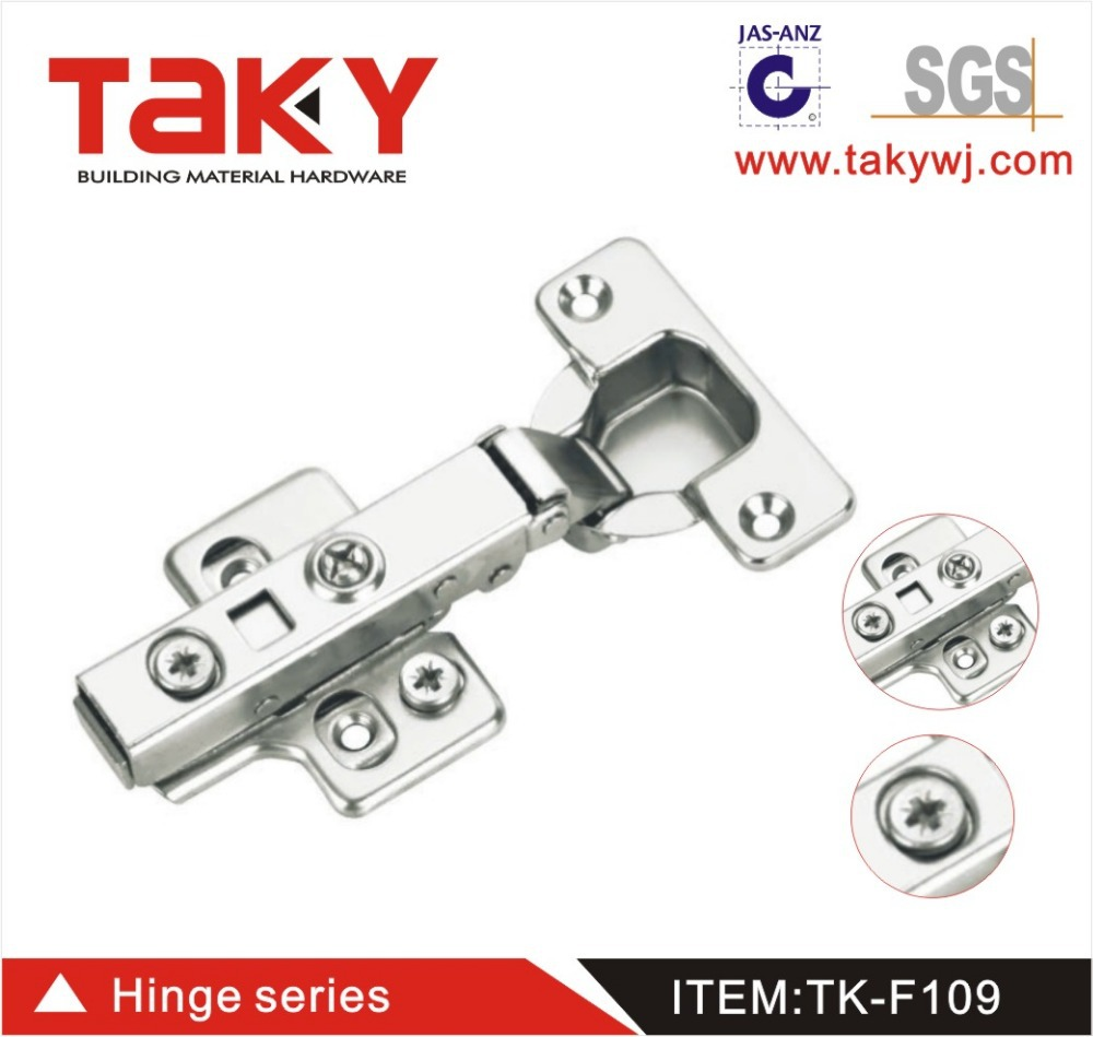 TK-F109 furniture cabinet soft closing steel hinge furniture 3D adjust hydraulic concealed hinge(China (Mainland))