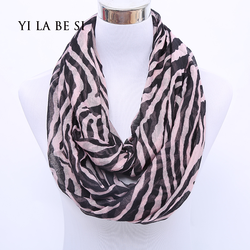 180*70cm Hot Sale Infinity scarves Fashion Classics Zebra Stripe Printing Womens Popular Ring scarves 3 colour(China (Mainland))