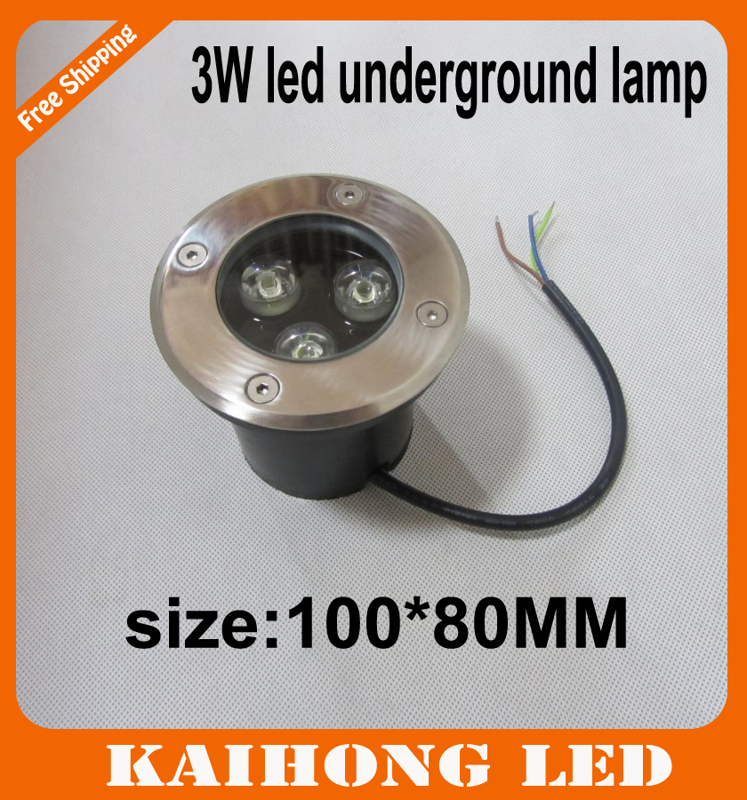 3W LED underground light IP68 Buried recessed floor outdoor lamp Plaza lights DC12V or AC85-265V CE&amp;ROHS by <br><br>Aliexpress