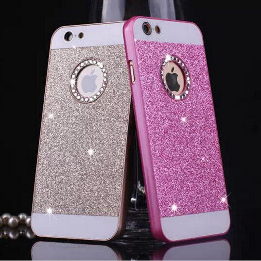 """Hot Sale! Luxury phone cases for iPhone 6 4.7"""" 5 5S New Cool Shinning back cover Sparkling case with Logo Window Factory Price(China (Mainland))"""