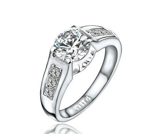 , Classic Crystal Ring 18K Platinum Plated Wedding Made Genuine Austrian Crystals - Shenzhen Sun Jewelry International Co.,Ltd store