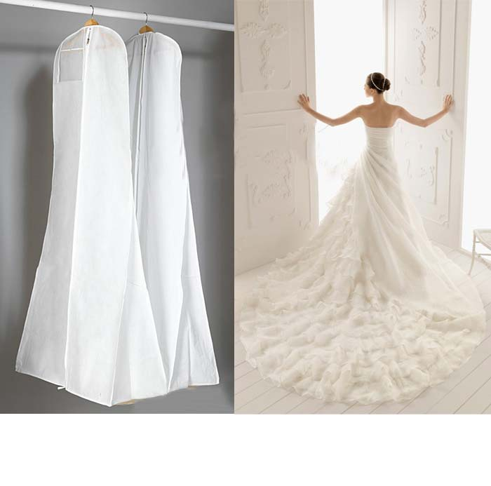 Anti Dust Zip Prom Wedding Dress Gown Garment Cover Storage Bag 68inch Non Woven High Quality In