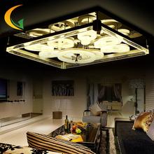 New crystal lamp rectangular living room lamp modern minimalist LED ceiling lighting creative bedroom lamp restaurant(China (Mainland))