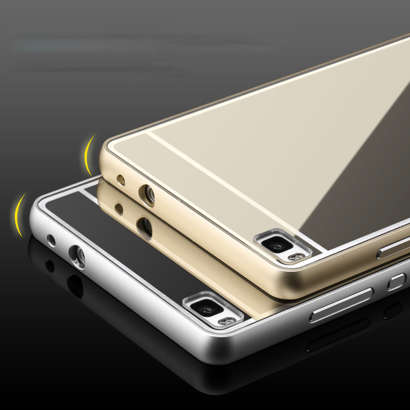 Huawei Ascend P8 Case New Luxury slim Aluminum Frame PC Back Cover mobile phone Covers Protective Cases For Huawei Ascend P8(China (Mainland))