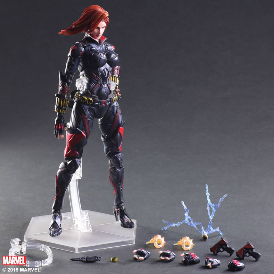 Marvel Shield Play Arts America Anime Avengers Civil War Black Widow Movable Action Figure Toys 27cm Model 0284(China (Mainland))