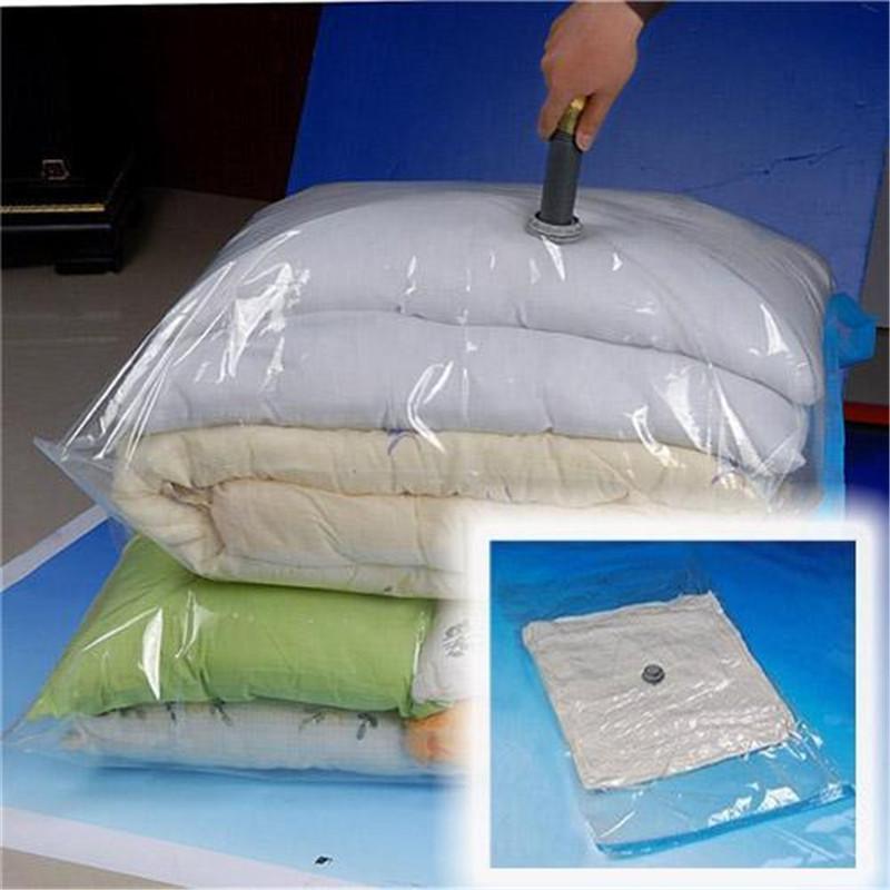 New Wholesale High Quality Space Saver Saving Storage Vacuum Seal Compressed Organizer Bag 70x50cm For Home Storage Convenient(China (Mainland))
