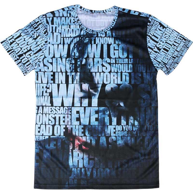 Nuevo Diseño Joker 3D Hombres Camiseta Personalizada 4XL Venecia camisetas Slim Fit grulla de Papel Creativo de Manga Corta Deporte Camiseta camisa(China (Mainland))