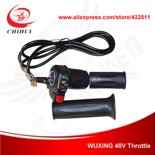 Buy WUXING Brand 48V Scooter Throttle Grips Ecno-Turbo Switch Battery Indicator Electric Scooter Hand Twist Throttle for $14.99 in AliExpress store