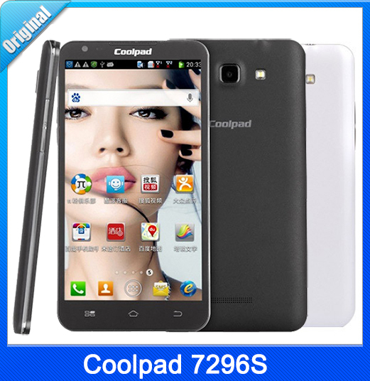 Free Shipping Coolpad 7296S Smart Mobile Phone MTK6589M Quad Core 1G RAM 4G ROM Wifi Bluetooth Radio Cell Phones(China (Mainland))