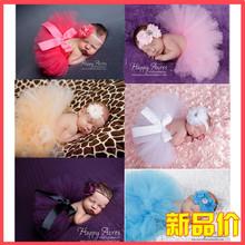 8 Colors Newborn Photography Props Girls Skirt Photo Props Tutu Skirt Sets Flower Headband Baby Photos Photo Shoot for Baby(China (Mainland))