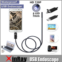 XinFly 2in1 Endoscope Micro USB Endoscope for Andriod Phone and PC 7mm Dia HTA7 6LED 60 Degree Angel IP67 Inspecition Endscope(China (Mainland))