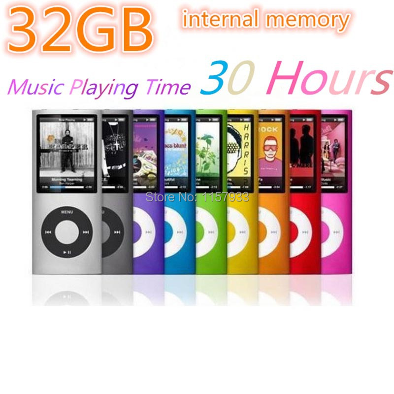 "High quality mini 32GB 30 Hours music playing time MP3 player Slim1.8"" LCD screen 4th MP3 photo E-Book Music FM Radio Video gift(China (Mainland))"