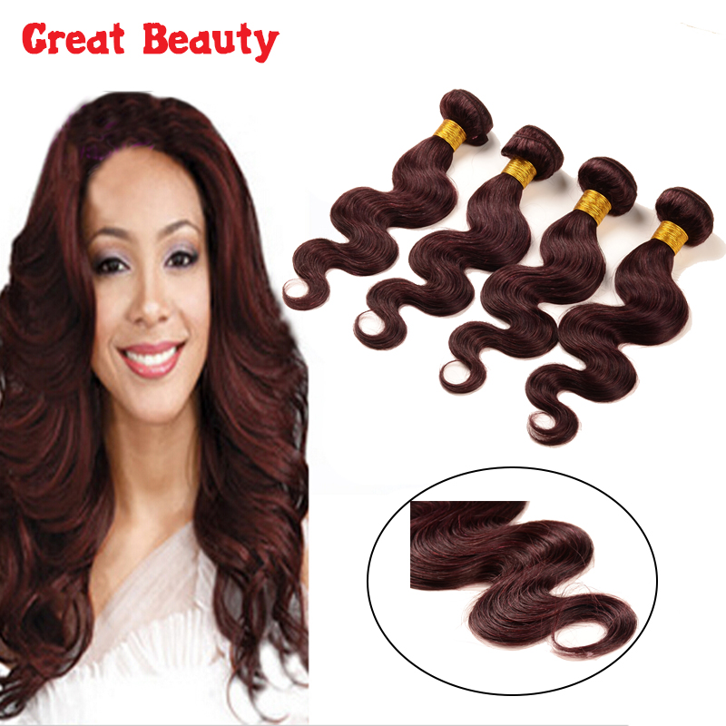 6a grade Brazilian Virgin Hair Body Wave 99j Burgundy Red Wine Color Hair 4Pcs 100% Brazilian 99j Human Hair Weave burgundy hair<br><br>Aliexpress
