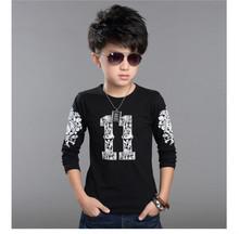 Nova 100% хлопка детей мальчиков с длинным рукавом футболки для детей одежда тройники мальчиков дизайна печати топы дети футболки Шею O(China (Mainland))