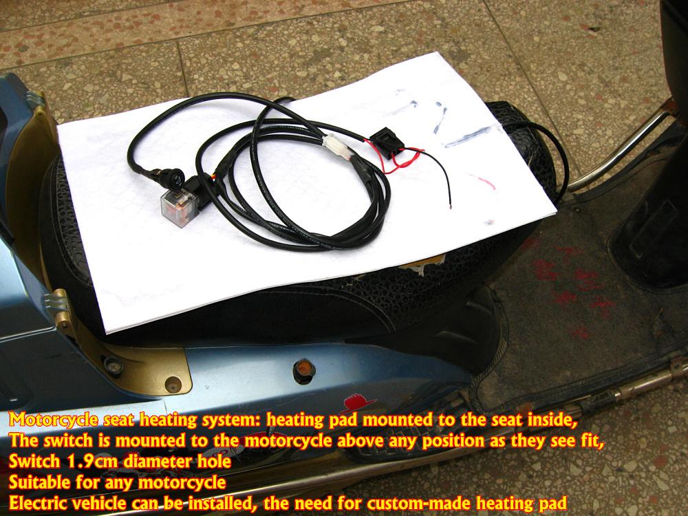 4 years warranty Universal Motorcycle ATV UTV E-BIKE round switch Carbon Fiber Seat Heater heated pad(China (Mainland))