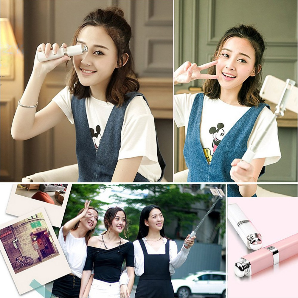 3.5mm Universal Lipstick Style Wired Extendable Selfie Stick for iPhone 7 6 6 5 4 Samsung Huawei Xiaomi HTC Camera phone