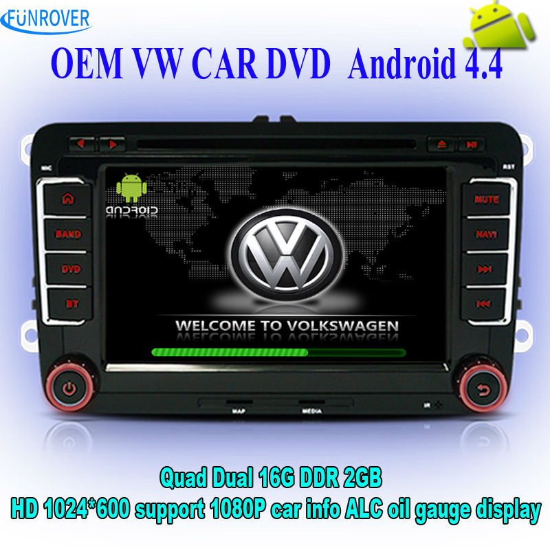 FREE SHIPPING VW [car dvd player] factory sell update to Quad Core HD1024*600 Android Car DVD GPS OEM fit radio rns510 audio GPS(China (Mainland))