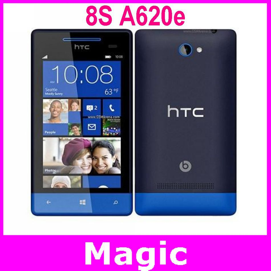 Unlocked Original HTC 8S A620e Windows Mobile Phones Dual Core GPS WIFI 4.0 inch Touch Screen 5 MP Camera Free Shipping(China (Mainland))
