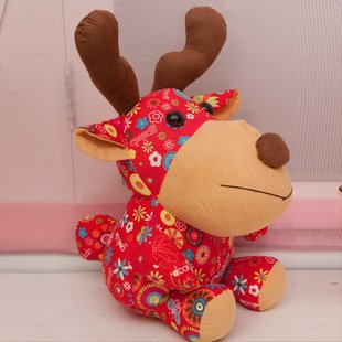 Christmas gift plush toy stuffed plush toy soft toys Christmas deer factory supply freeshipping(China (Mainland))