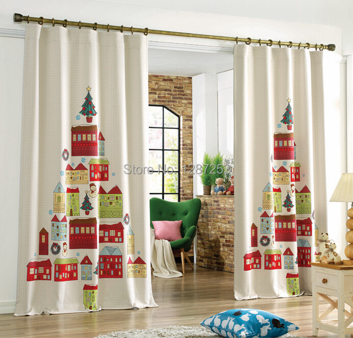 Decoration Curtains Holiday Celebration Children Living Room