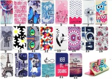PU Leather P8 lite Painting Case Silicon Back Cover For Fundas Huawei P8 lite Flip Case Elephant Flower Wallet Stand Cover Coque