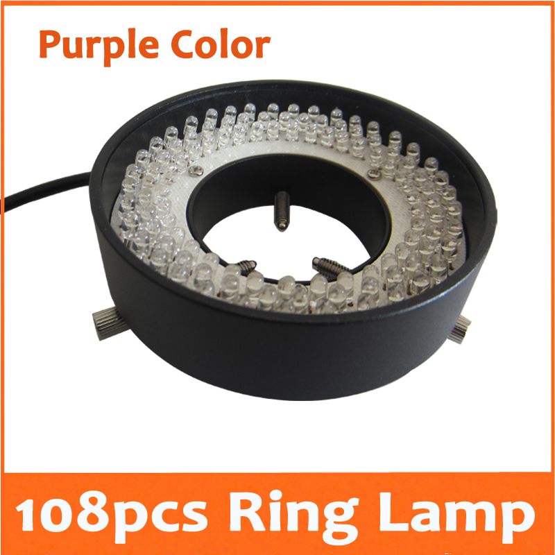 Фотография 108pcs Purple Light LED Illuminated Adjuatable Laboratory Biological Stereo Microscope Ring Lamp Inner Diameter 41mm 90V-264V