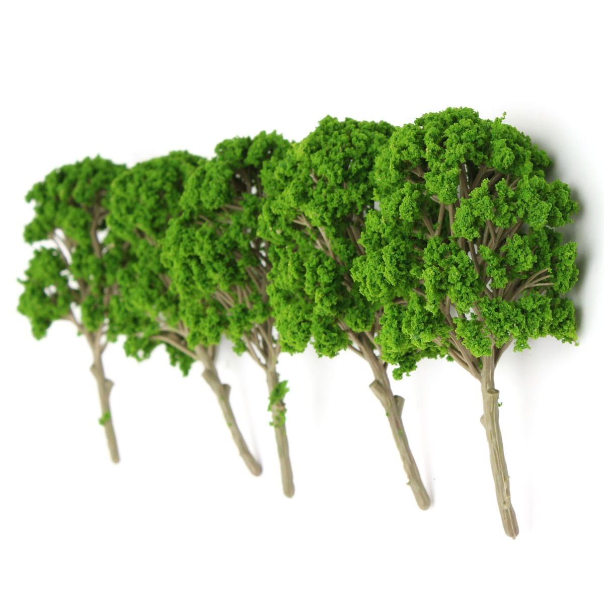 5pcs/lot Excellent Quality 15cm Miniature Model Trees For Micro Landscape Train Railway Park Scenery Fit For Home Decoration(China (Mainland))
