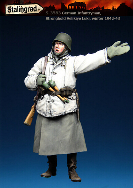 Resin Models 1/35 War Winter German Soldiers Free Shipping 1 piece(China (Mainland))
